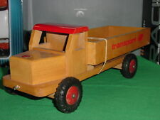 Rare Wooden Truck van SIO made in Holland
