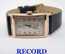 Vintage 9k Rose Gold RECORD Winding 17J Watch 1940s Cal 112* EXLNT* SERVICED