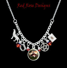 ~THE VAMPIRE DIARIES THEMED STATEMENT CHARM NECKLACE~