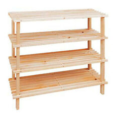 4Tiers Wooden Shoes Organisers Storage Rack Shelves Shelf  children toy 74cmNEW
