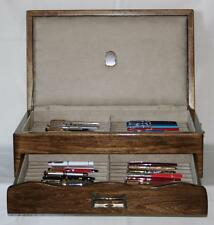 FOUNTAIN PEN CHEST, #528, STORAGE, DISPLAY, HAND-CRAFTED, HOLDS 42 PENS, USA