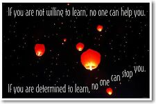 If You Are Not Willing to Learn, No One Can Help You- NEW Classroom Motivational
