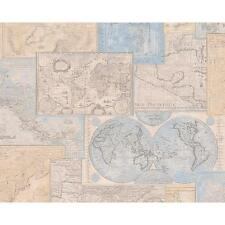 AS CREATION ATLAS MOSAICO ESTAMPADO VINTAGE MAP