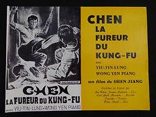 CHEN LA FUREUR DU KUNG FU photo scenario film 1960s Karaté KUNG FU