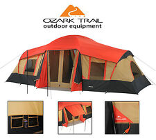 Camping Cabin Tent 10 Person 3 Room Dome Outdoor Large Hiking Gear Equipment NEW
