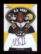 NICK CHUBB - Georgia Bulldogs 2014 Leaf Army TOUR Certified AUTOGRAPH RC