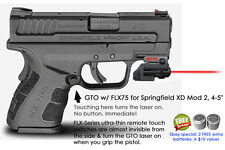"ArmaLaser GTO for Springfield XD Mod 2 4-5"" RED Laser Sight w/ FLX75 Grip On/Off"