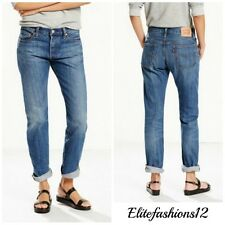 Levi's Womans 501 Boyfriend Jeans Lonesome road Size 28 x 32 Style # 125010229