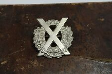 Antique 1900 Scottish Horse Yeomanry White Metal Cap Badge