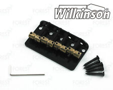 Wilkinson 4 string Bass bridge vintage style WBBC4, brass saddle, black