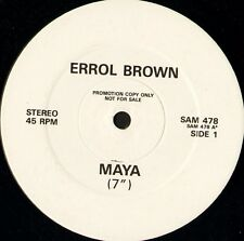 "ERROL BROWN  (of hot chocolate) maya 7""/12"" version SAM 478 promo uk 12"" WS EX/"