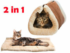 2in1amazing MAGIC Self Riscaldamento Termico PET tunnel letto CAT DOG PUPPY & Warm MAT