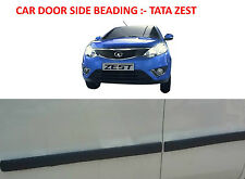 Car Door Side Beading/Molding/Guard/Protector Black :- TATA ZEST