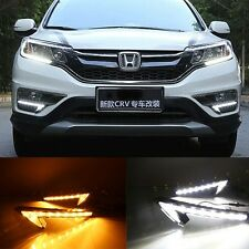 2x White 9 LED Daytime Running Lights DRL Fog Lamp for Honda CR-V CRV 2015-2016