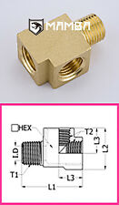 Brass Adapter Fitting Street Tee 1/8 BSP Male to 1/8 BSP Female (50 pcs)