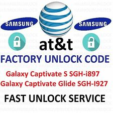 At&t IMEI Factory Unlock Code Samsung Galaxy Captivate S SGH-i897 Glide SGH-I927