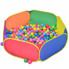 Kids Portable Hex Color Pit Ball Pool Playpen - Baby Tent Playhut