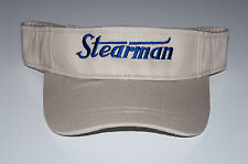 STEARMAN Sun Visor Khaki with Navy logo  FREE SHIPPING