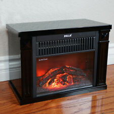 Infrared Tabletop Space Heater Flame Effect Mini Electric Fireplace Portable