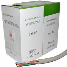 Medidor de Ethernet 305m Cable De Red Lan Utp Carrete marcado CAT5e-CCA Solid