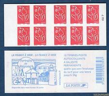 Carnet - 3744 C6 - Type Marianne de Lamouche - TVP rouge N° 3744 - NEUF