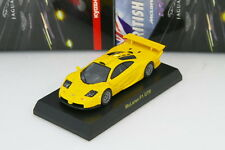 Kyosho 1/64 McLaren F1 GTR Yellow BRITISH Minicar Collection 2009 Rare Jaguar