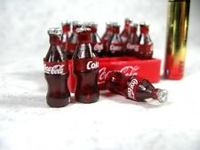 12 Coke Bottles with Tray Dollhouse Miniature food, Soft drink,Soda Collectibles