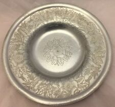 "11.75"" INCH HAND WROUGHT ALUMINUM SERVING BOWL/TRAY-WILSON SPECIALTY CO-BROOKLYN"