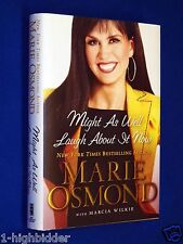 SIGNED NEW Marie Osmond Might As Well Laugh About It HCDJ Hardcover LDS Mormon