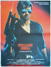 COBRA Affiche Cinéma Originale / French Movie Poster SYLVESTER STALLONE 60x40