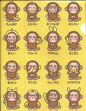 Sanrio Osaru No Monkichi Folder Portfolio Side Open Plastic Faces