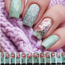 12 X Nagelsticker Nail Wraps Full Nail Art Sticker C6-001