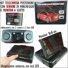VIDEOCAMERA ASSISTENTE 2 SENSORI PARCHEGGIO + MONITOR LCD PER FIAT GRANDE punto