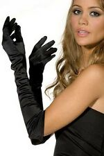 "19"" 48cm LONG BLACK GLAMOUR EVENING GLOVES  - NEW"