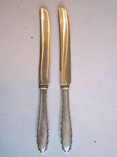 2 STERLING SILVER KNIVES - SILVERWARE - 6 3/4""