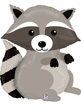 "XL 36"" Raccoon Woodland Critter Mylar Foil Balloon Super Shape Party Decoration"