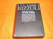 I classici Rizzoli, Alessandro Manzoni, OPERE VARIE 1970