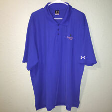 -MENS BLUE UNDER ARMOUR POLYESTER ELASTANE S/S GOLF ATHLETIC POLO SHIRT XL