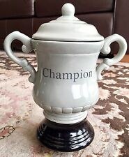 "Vintage 9""/23cm Tall Novelty Porcelain Football Winners Champion Trophy Cup"
