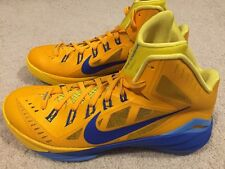 NWOB Nike Mens Hyperdunk 2014 Size 10.5 Basketball Shoes Yellow/gold Blue