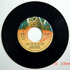 ONE 1976'S 45 R.P.M. RECORD, BARRY WHITE, JUST THE WAY YOU ARE + NOW I'M GONNA M