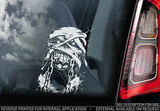 Iron Maiden  'Eddie' The Head - Car Window Sticker - Powerslave Hunter - TYP2