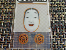OKAME NOH MASK ~ special Maki-e SEAL made in Japan ~ very durable waterproof
