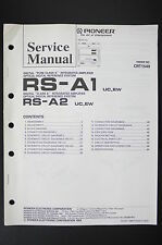PIONEER RS-A1 RS-A2 Digital Reference System Service-Manual/Schaltplan o102