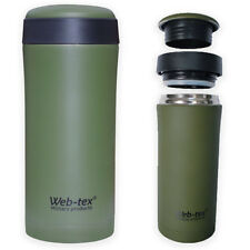 PLCE Ammo Mag Pouch Thermus Insulated Thermal Hot Drinks Flask Mug Cup Green