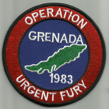 OPERATION URGENT FURY GRENADA 1983 BIKER MOTORCYCLE MILITARY PATCH   4""