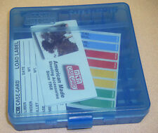 MTM Case Gard™ New MTM Plastic Ammo Box 100 Round 45acp 40 P100-45-24 Clear Blue
