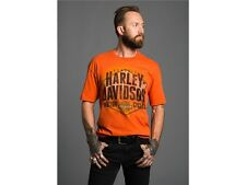 Harley-Davidson VF Inspected Combusted * Gr. M - Herren T-Shirt orange (Tshirt)