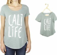 Mommy and me outfit Cali Life green Organic T-shirt