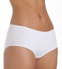 Ladies Size 14 Boy Shorts Midi  Knickers Panties Silky Soft Microfibre White
